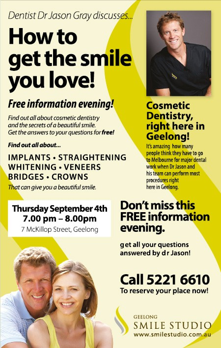 How to get the smile you love! - Free information evening!